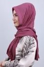 Pliseli Hijab Şal Gül Kurusu