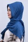 Pliseli Hijab Şal İndigo