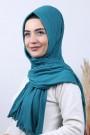 Pliseli Hijab Şal Petrol Mavisi