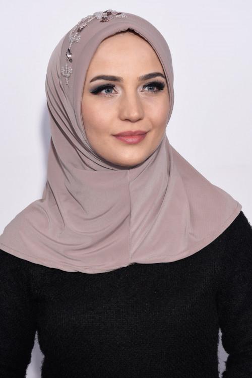 Pratik Pullu Hijab Açık Vizon