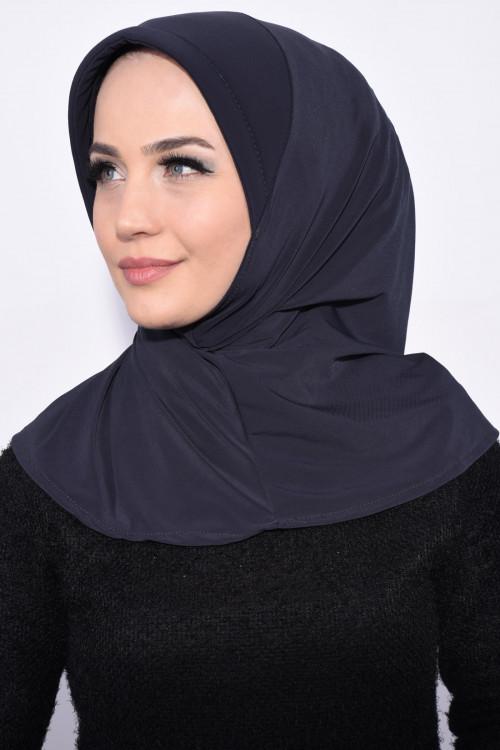 Pratik Pullu Hijab Füme