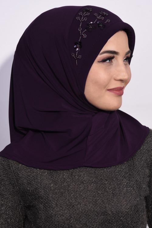 Pratik Pullu Hijab Mor