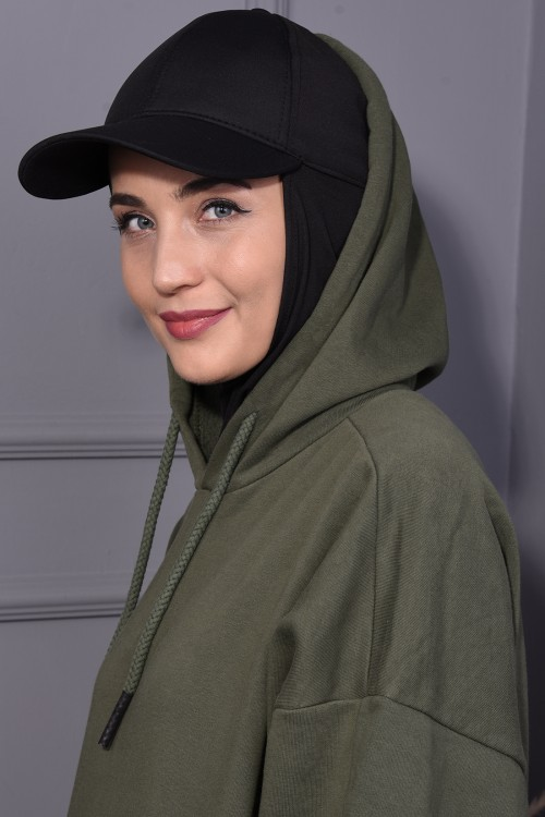 Şapka Şal Siyah